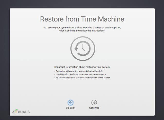 Restore from Time Machine