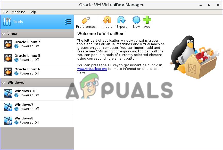 VirtualBox n'a pas réussi à attacher USBopen VirtualBox et cliquez sur Outils puis sur l'option Préférences
