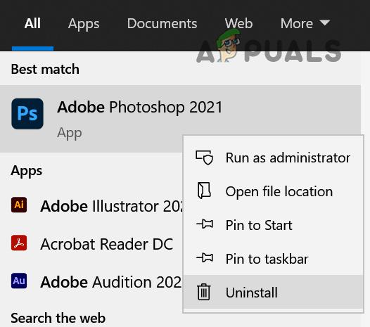 Uninstall Adobe Photoshop