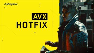 Cyberpunk AVX Hotfix