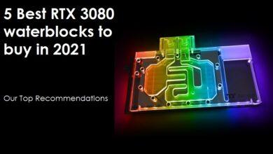 Best RTX 3080 Waterblock