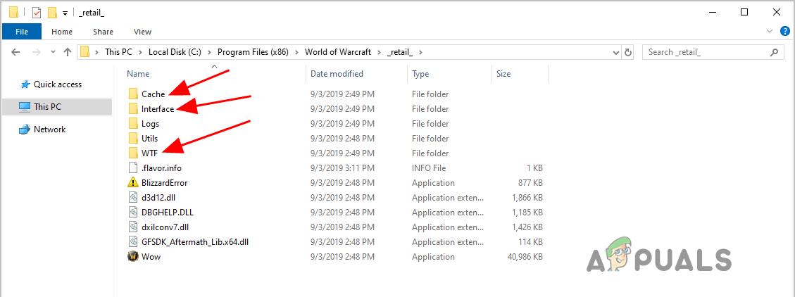 WOW51900314 Error in World of Warcraft