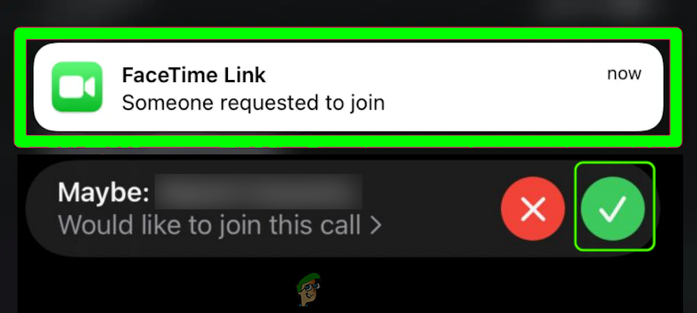 Approve the FaceTime Call Joining Request